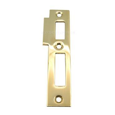 Sluitplaat 106 Wc/Pc Rechts 95x23mm Messing gepolijst S&B 226001.4