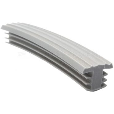 Traptrede profiel Zilver metallic 1 meter T-model