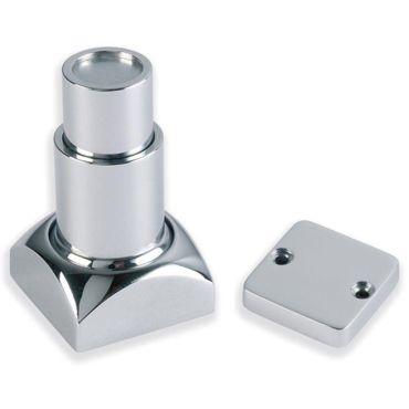 Deurvastzetter vierkant magnetisch min.50mm max. 82mm incl. deurplaat Messing gepolijst chroom