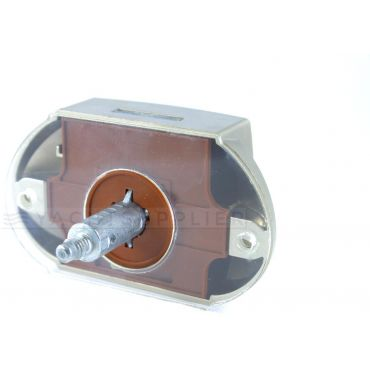 Drukknopslot vulplaat 2mm transparant small
