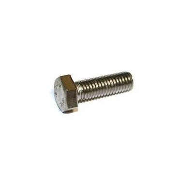 Zeskanttapbout M5x30 volledig draad - Rvs 316 - DIN 933 - Per 100 stuks